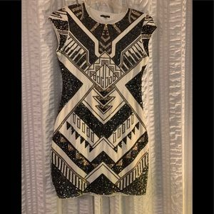 EXPRESS SEQUINED FITTED MINI DRESS~ SIZE8